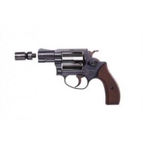 HW 37 Revolver 9 mm brüniert Holzgriffschalen