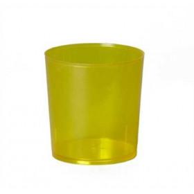 Illu-Becher Plastik gelb