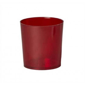 Illu-Becher Plastik rot
