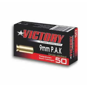Platzpatronen 9 mm Victory P.A.K. vermessingt 50er