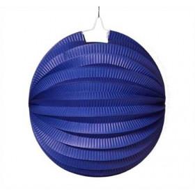 Lampion f. 3,5 Std. Kerze ca. 24 cm - blau (Pack=10 Stück)