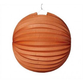 Lampion f. 3,5 Std. Kerze ca. 24 cm - orange (Pack=10 Stück)