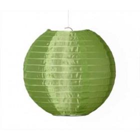 Textil Rund-Lampion grün Ø 25cm für LED-Lampionlicht