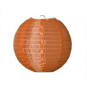 Textil Rund-Lampion orange  Ø 25 cm für LED-Lampionlicht