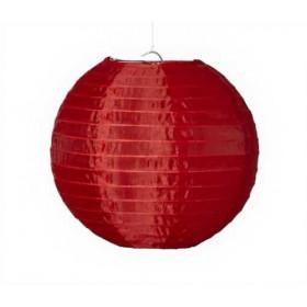 Textil Rund-Lampion rot  Ø 25cm  für LED-Lampionlicht