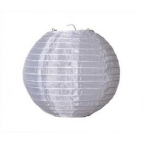 Textil Rund-Lampion weiß Ø 25cm für LED-Lampionlicht